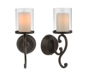 I Purchased This Set Of Two Candle Impressions Melted Wax Flameless Wall  Sconces With Timer (Item #H07026) From QVC A Few Years Ago.