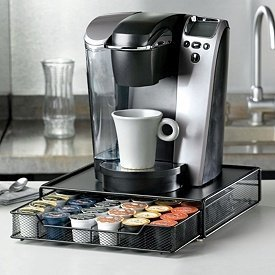 The Coffee Maker Sits On Top, And It Holds Up To 36 K Cups. That Will Keep  Your K Cups And Your Countertop Neat And Orderly.